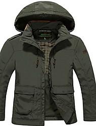 Trilha Blusas Homens Impermeável / Mantenha Quente / A Prova de Vento / Isolado / Confortável Outono TactelAzul / Verde Militar / Cáqui