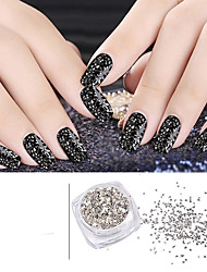 5g/box Silver Irregular Broken Glass Flake Nail Art Glitters Powders Creative 3d UV Gel Polish Nail Decoration Tools