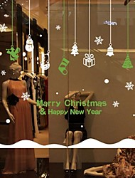 Christmas Solid Classical Window StickerPVC/Vinyl Material Window Decoration