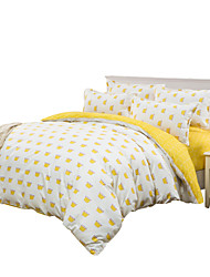 Mingjie Yellow Crown Bedding Sets 4PCS for Twin Full QueenSize from China Contian 1 Duvet Cover 1 Flatsheet 2 Pillowcases