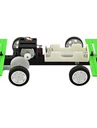 Gadgets Solar Powered Modelo e Blocos de Construção Carro Plástico Verde Para Meninos