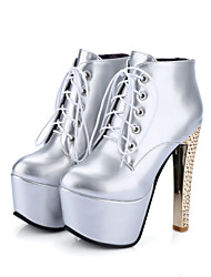 Women's Boots Spring Fall Winter Platform Light Up Shoes Comfort Ankle Strap Club Shoes PU Wedding Casual Party & EveningStiletto Heel
