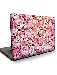 pour macbook air 11 13 / pro13 15 / pro avec retina13 15 / macbook12 rose roses apple ordinateur portable cas