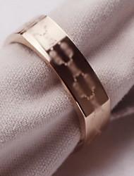 Anéis Casamento Jóias Aço Titânio Masculino Anel 1peça,5 / 6 / 7 / 8 Ouro Rose
