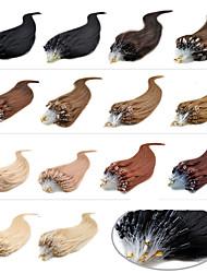 """20 """"castaño oscuro (# 33) 100s extensiones de cabello humano remy micro loop"""