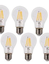 4W E26/E27 Ampoules à Filament LED A60(A19) 4 COB 400 lm Blanc Chaud / Blanc Froid Décorative / Etanches AC 100-240 V 6 pièces