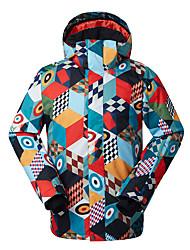 Gsou SNOW® Skikleidung Ski/Snowboard Jacken Herrn Winterkleidung Polyester Kleidung für den WinterWasserdicht / Atmungsaktiv / warm