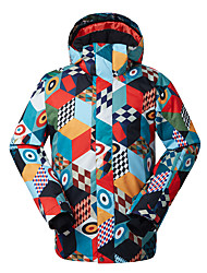 GSOU SNOW® Ski Wear Ski/Snowboard Jackets Men's Winter Wear Polyester Winter ClothingWaterproof / Breathable / Thermal / Warm / Windproof