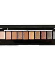 10 Palette de Fard à Paupières Matériel Fard à paupières palette Poudre Set Maquillage Quotidien