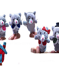 Cat Finger Family PP Cotton Plush Toy Gray