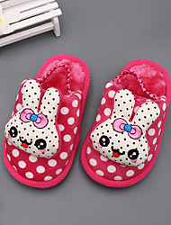 Girl's Baby Slippers & Flip-Flops Winter Others Fleece Casual Animal Print Blue Brown Red Coral