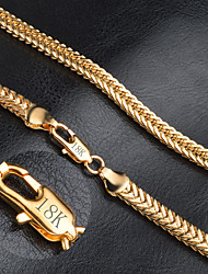 Men's Women's Chain Necklaces Gold Fashion Costume Jewelry Jewelry For Wedding Party Daily Casual Christmas Gifts