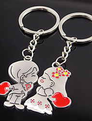 Stainless Steel Wedding Keychain Favors-2 Piece/Set Couples Keychains Fairytale Theme Non-personalised Valentine's Day Character Design