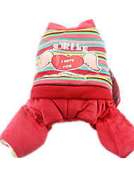 Dog Clothes/Jumpsuit Red Dog Clothes Winter / Spring/Fall Hearts Cute / Casual/Daily / Keep Warm