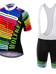 WOLFKEI Summer Cycling Jersey Short Sleeves BIB Shorts Ropa Ciclismo Cycling Clothing Suits #04
