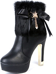 Women's Boots Spring / Fall / Winter Gladiator Synthetic Office & Career / Party & Evening / Dress / Casual Stiletto Heel Black / White