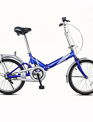 Folding Bike Cycling 7 Speed 20 Inch Unisex / Men's / Women's V Brake Ordinary Folding Ordinary/Standard Steel Red / Yellow / Blue / White