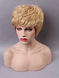 meilleur excellent court capless perruques de cheveux humains onduleux naturel