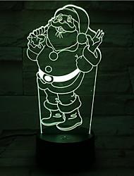 Santa lampe claus lumière touche colorée télécommande conduit 3d visuelle lampe de table atmosphère lumineuse