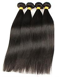 4 Peças Retas Tramas de cabelo humano Cabelo Brasileiro 400g 8-30 inch Extensões de cabelo humano