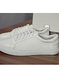 Homme-Décontracté-BlancConfort-Sneakers-Cuir