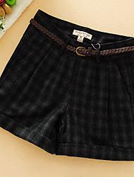 Femme Sexy simple Taille Normale Micro-élastique Short Pantalon,Droite Rayé