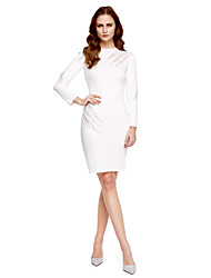 TS Couture® Cocktail Party Dress - Celebrity Style Sheath / Column Jewel Knee-length Jersey with Beading