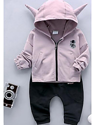 Boy Casual/Daily Solid Sets,Cotton Winter / Fall Clothing Set