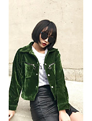 Sign Slim was thin gold velvet jacket short paragraph Korean version of the influx of solid color long-sleeved embroidered jacket