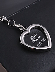 Stainless Steel Wedding Keychain Favors-1 Piece/Set Couples Keychains Non-personalised Character photos Heart Design Valentine's Day