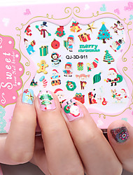 12pcs/lot Christmas 3D Nail Stickers
