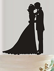 The bride and groom acrylic wedding cake inserted fine decoration birthday cake inserted card