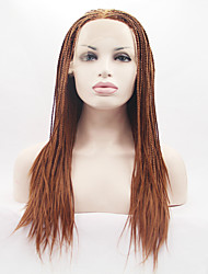 Synthetic Lace Front Wig Braids Lace Wigs Before The Hand-Pinned Fine Hair High-Temperature Wire