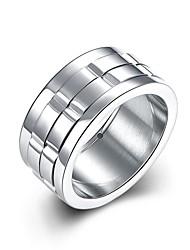 Ringe Others Einzigartiges Design Modisch Hochzeit Party Alltag Normal Sport Schmuck Edelstahl versilbert Herren Ring Verlobungsring1