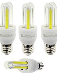 3W E26/E27 Lâmpadas Espiga T 4 COB 210 lm Branco Frio Decorativa V 4 pçs