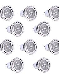 3W GU10 Spot LED 3 SMD 3030 300 lm Blanc Chaud / Blanc Froid Décorative AC 85-265 V 10 pièces