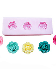 Three Cell Oblong Silicone Mold Fondant Molds Sugar Craft Tools Resin flowers Mould Molds For Cakes