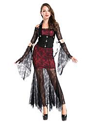 Disfraces de Cosplay Vampiros Festival/Celebración Traje de Halloween Rojo / Negro Retazos Vestido / Más Accesorios Navidad Mujer Terileno