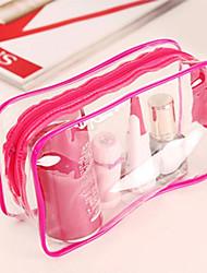 Organizador para Maquiagem Bolsa de Cosmético / Organizador para Maquiagem PVC Cor Única 18*10*5 Rose