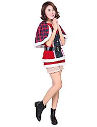 Costumes de Cosplay Princesse Fête / Célébration Déguisement Halloween Noir & rouge A Carreaux Manteau / Jupe Noël Féminin
