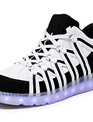 LED Light Up Shoes, Men's Sneakers Spring / Summer / Fall / Winter Comfort Synthetic Casual Flat Heel Black / Red