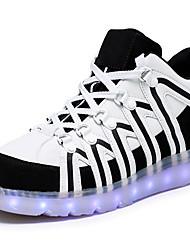 Herren Schuhe Kunststoff Frühling Sommer Herbst Winter Komfort Modische Stiefel Leuchtende LED-Schuhe Sneakers LED Für Normal Schwarz Rot