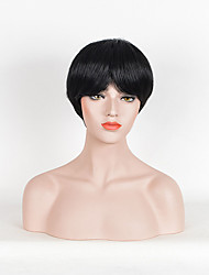 Hot Sale Women Black Color Synthetic Wigs Short Straight Wigs