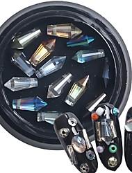 1pcs Symphony Bullet Diamond Crystal Drill Nail Color Mixture