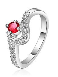 Anéis Diário / Casual Jóias Prata de Lei Feminino Anel 1peça,8 Prateado