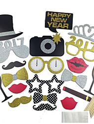 21 PCS /Set Hard Card Paper Non-personalized Photo Props for Christmas New Year Wedding Party Supply