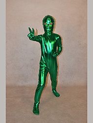 Festival/Holiday Costumes Green Solid Zentai Kid Rubber Shine