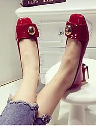 Damen-High Heels-Lässig-PUKomfort-Schwarz / Rot