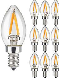 2W E14 LED лампы накаливания 2 COB 200 lm Тёплый белый AC 220-240 V 10 шт.