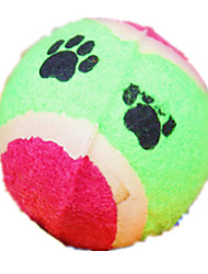 Dog Pet Toys Ball Durable Green / Pink Textile